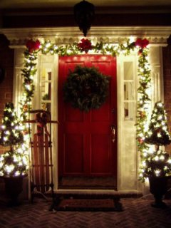 You can't limit yourself to the doors with decorations.